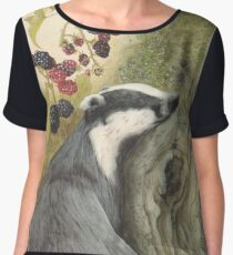 Autumn badger Chiffon Top