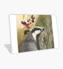 Autumn badger Laptop Skin