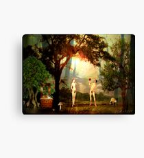 Contemporary Strange Eden  Canvas Print