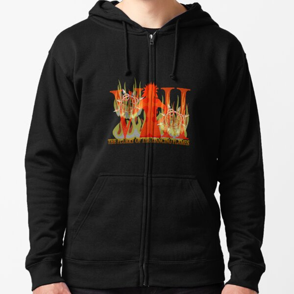 THE FLURRY OF THE DANCING FLAMES Zipped Hoodie