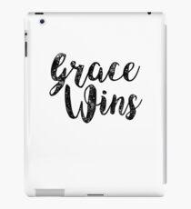 Grace Wins Inspirational Christians Jesus Peace iPad Case/Skin