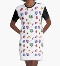 Seashell pattern. Graphic T-Shirt Dress