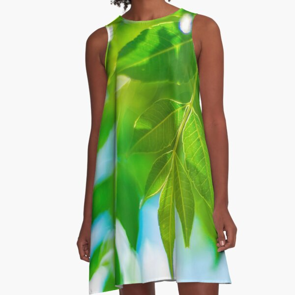 Leaves A-Line Dress