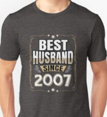 Best Husband Since 2007 10th Wedding Anniversary T-Shirt
