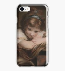 After Joshua Reynolds () The Sleeping Girl; The Laughing Girl iPhone Case/Skin
