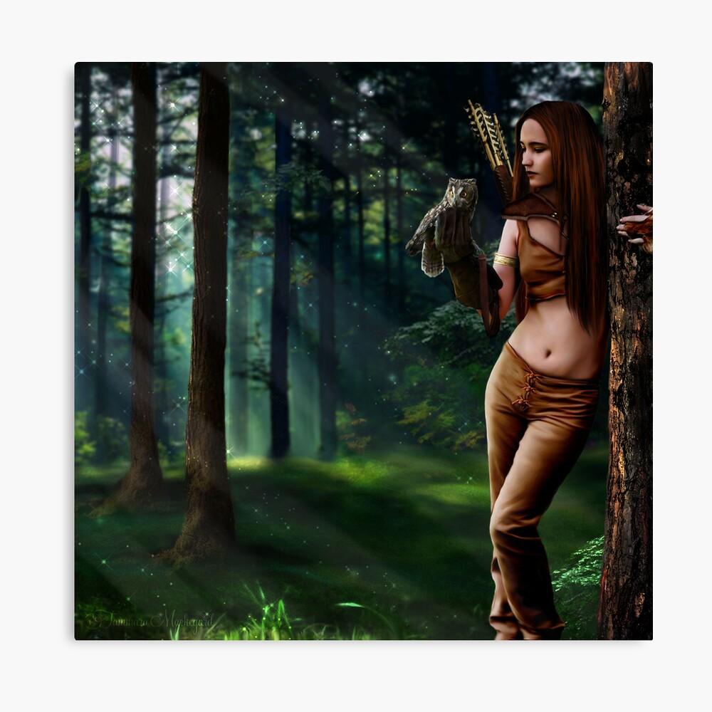 Lady of Sherwood Canvas Print