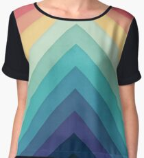 Retro Chevrons 002 Women's Chiffon Top