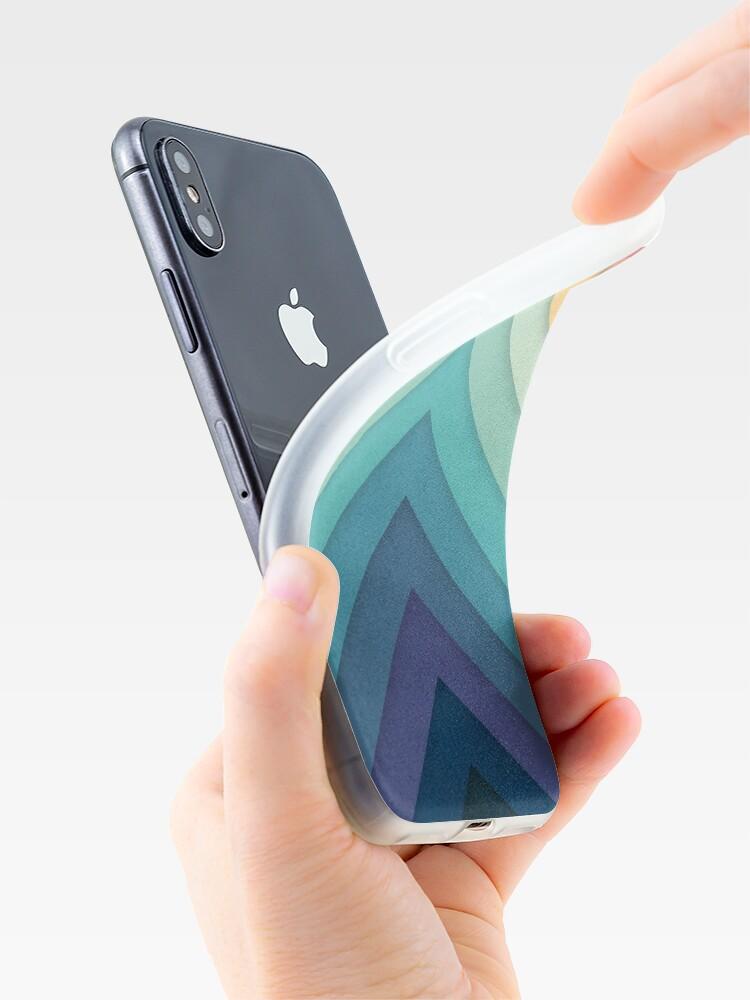 Alternate view of Retro Chevrons 002 iPhone Case & Cover