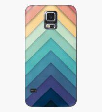Retro Chevrons 002 Hülle & Klebefolie für Samsung Galaxy