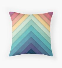 Retro Chevrons 002 Throw Pillow