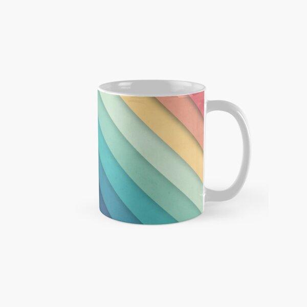 Retro Chevrons 002 Classic Mug