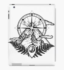 Mountains and compass iPad Case/Skin