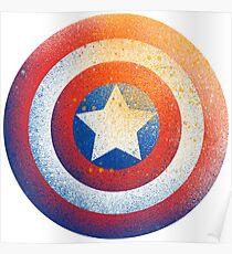 Captan America logo avengers shield  Poster