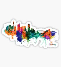 Sydney watercolor skyline Sticker