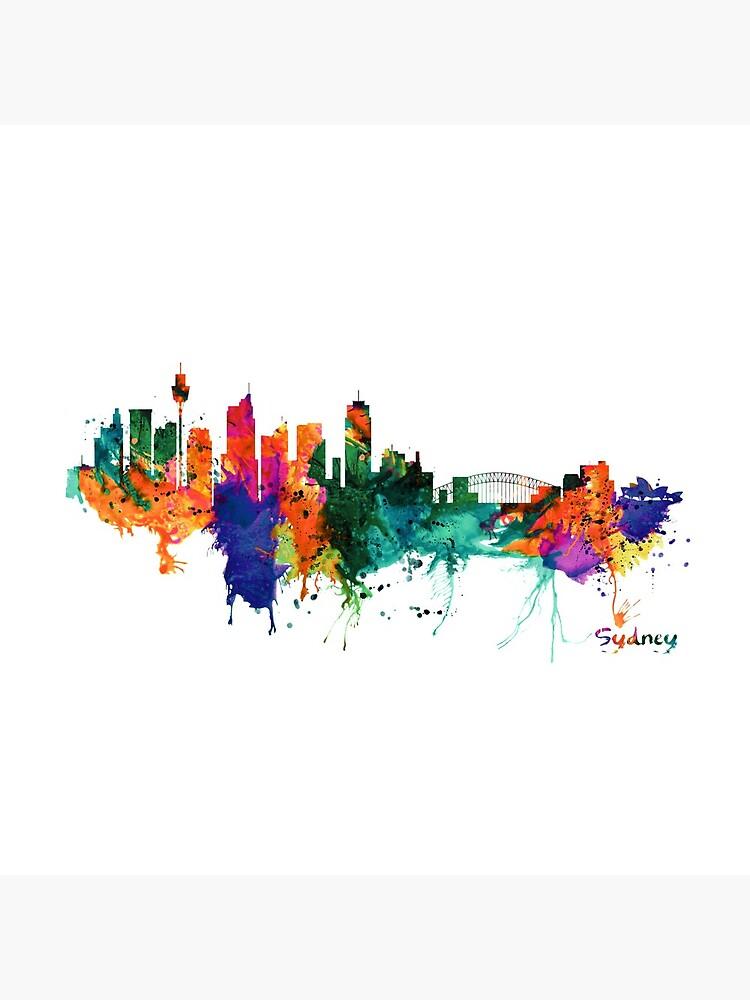 Sydney watercolor skyline by caracatita75