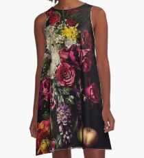Rikard Osterlund's Flowers (Philosophy of Futility) A-Line Dress