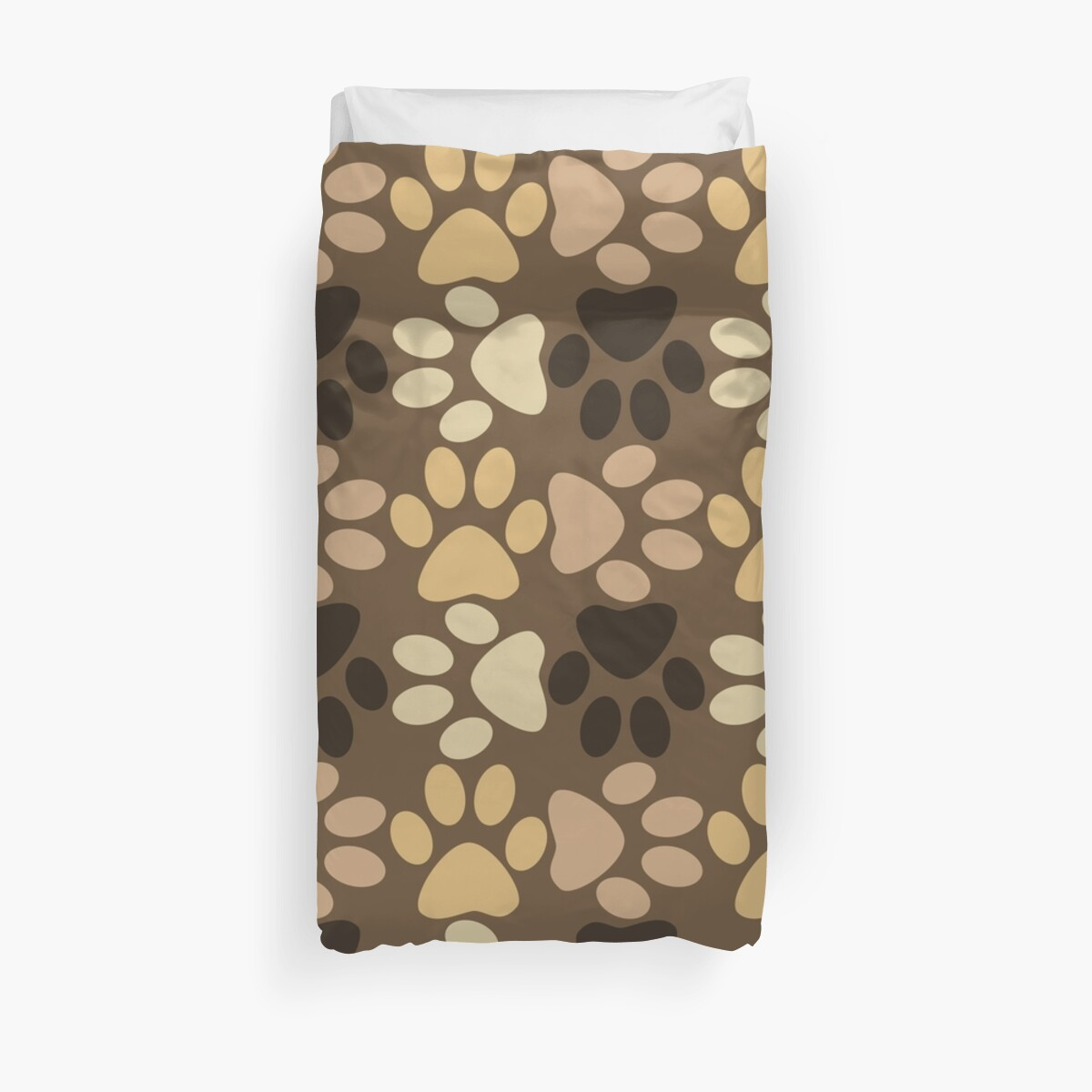 Paw Print Pattern in Browns by ironydesigns