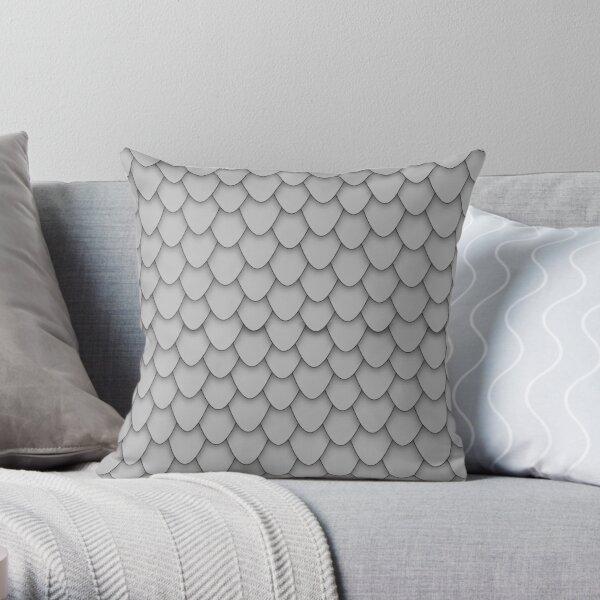 Grey Dragon Scales Throw Pillow