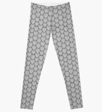 Grey Dragon Scales Leggings