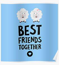 Sheeps Best friends Heart R8cvj Poster