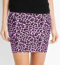 Purple Leopard Print  Mini Skirt