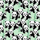 Panda Bears Graphic Pattern by ironydesigns