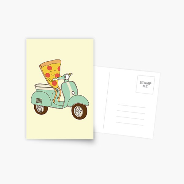 pizza delivery Postcard