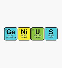 GeNiUS - know all elements Photographic Print