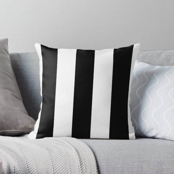 Rayures noires et blanches Coussin