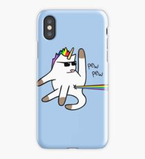 Unicorn Cat Rainbow Butt Laser iPhone Case/Skin