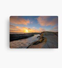 archipelago sunset cove Canvas Print