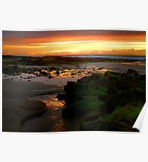 Sunset on the skerries Poster