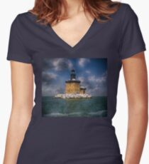 Toledo Harbor Light Women's Fitted V-Neck T-Shirt