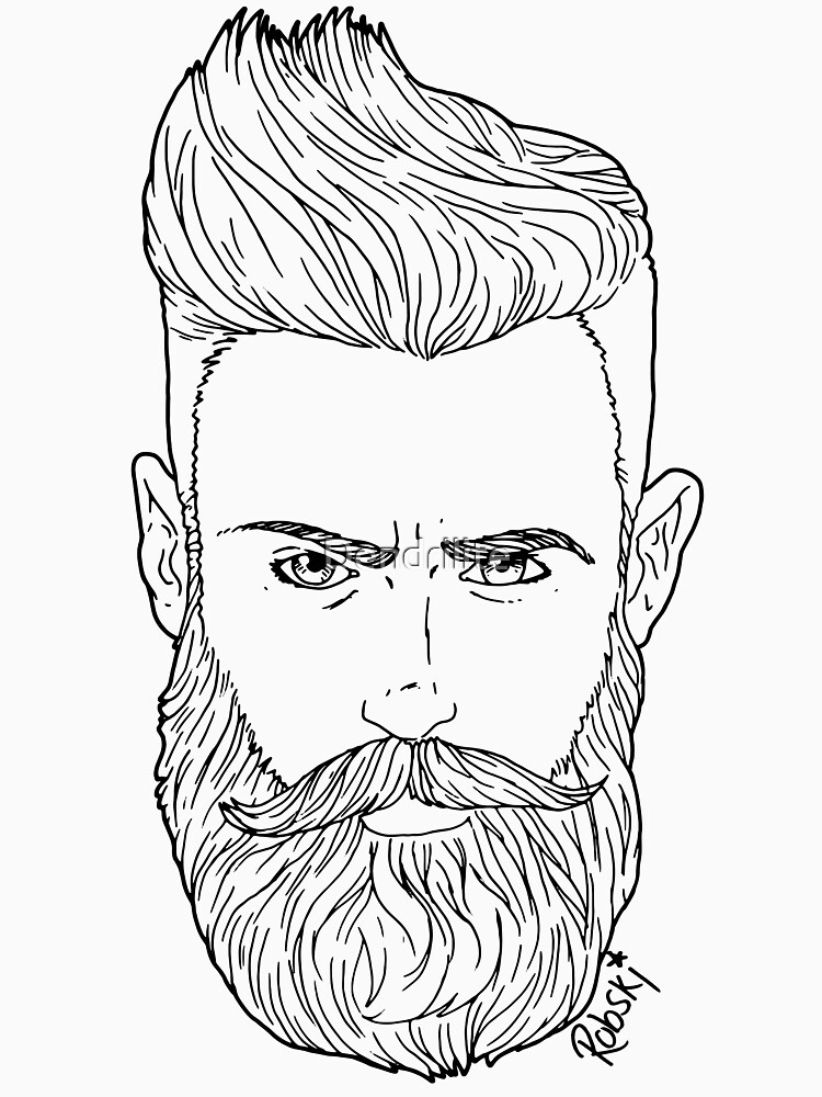 Handsome bearded bear hipster man by RobskiArt