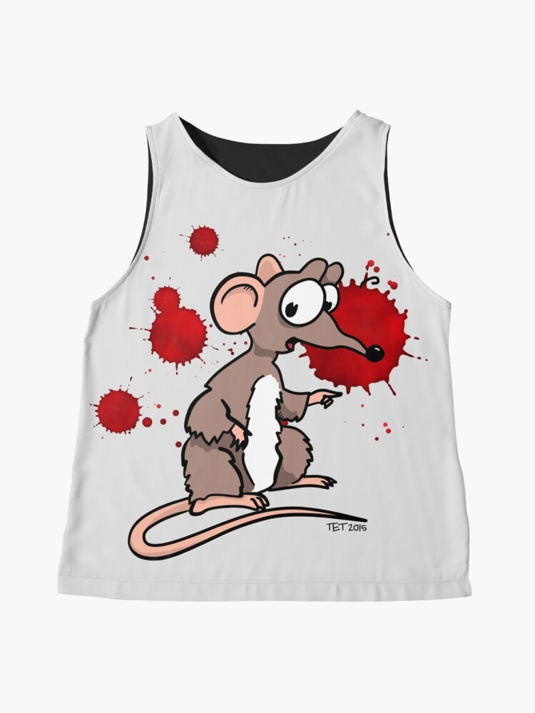 Alternate view of Smash Mouse Blood Spatters Sleeveless Top