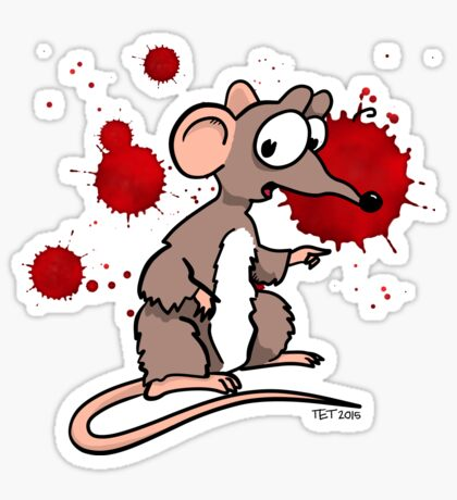 Smash Mouse Blood Spatters Sticker