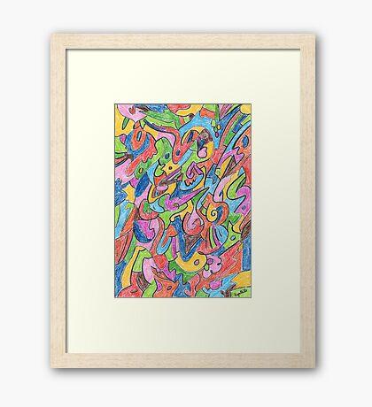 2401 - Buntes Muster im geordneten Chaos Gerahmtes Wandbild