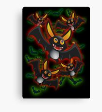 BATTY ABOUT BATS Canvas Print