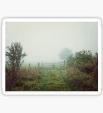 Foggy Field Sticker