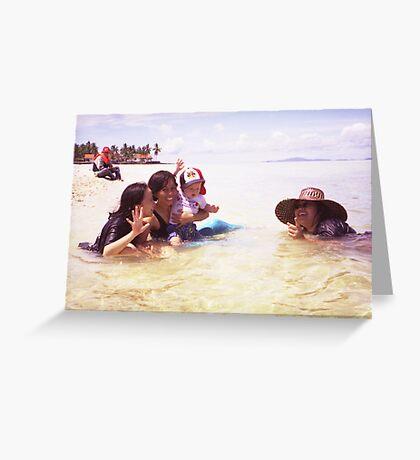 A coral reef off Subuku, Borneo Greeting Card