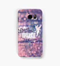 Leave a Little Sparkle Wherever You Go Samsung Galaxy Case/Skin
