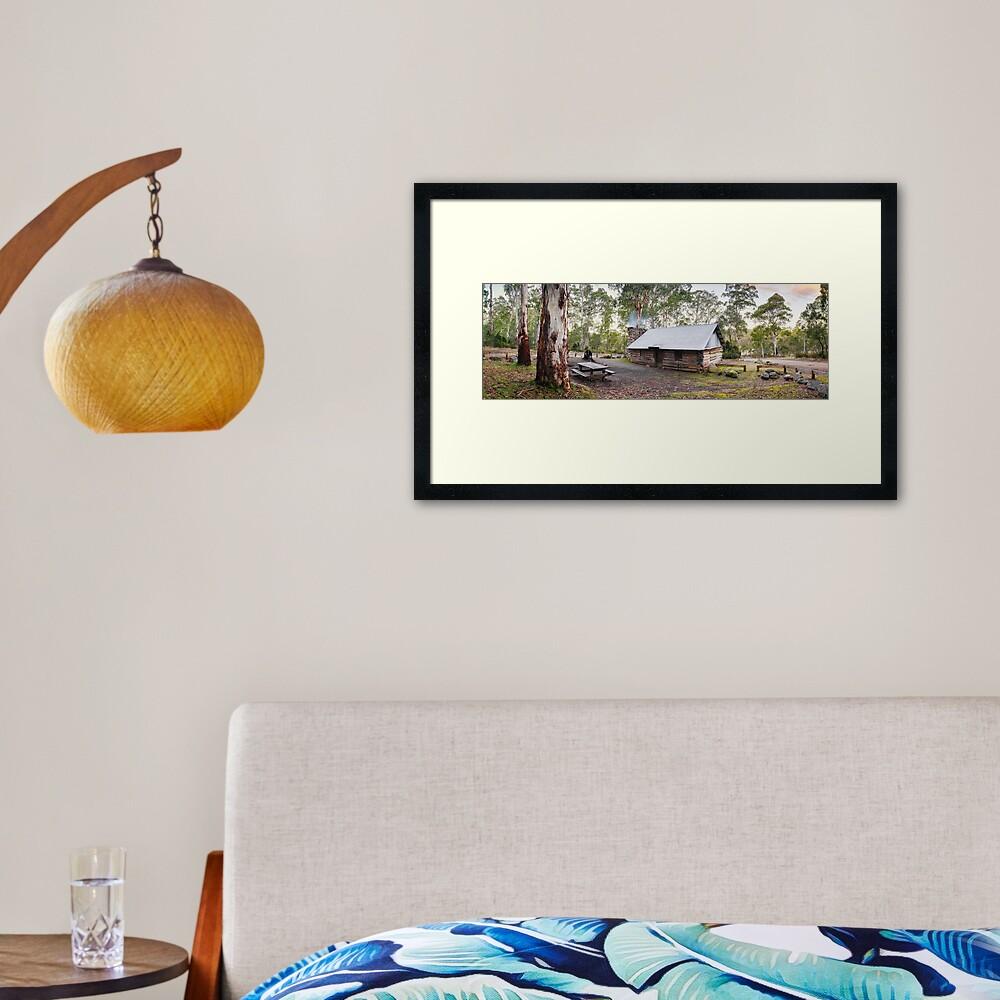 Moscow Villa Hut, Nunniong, Victoria, Australia Framed Art Print