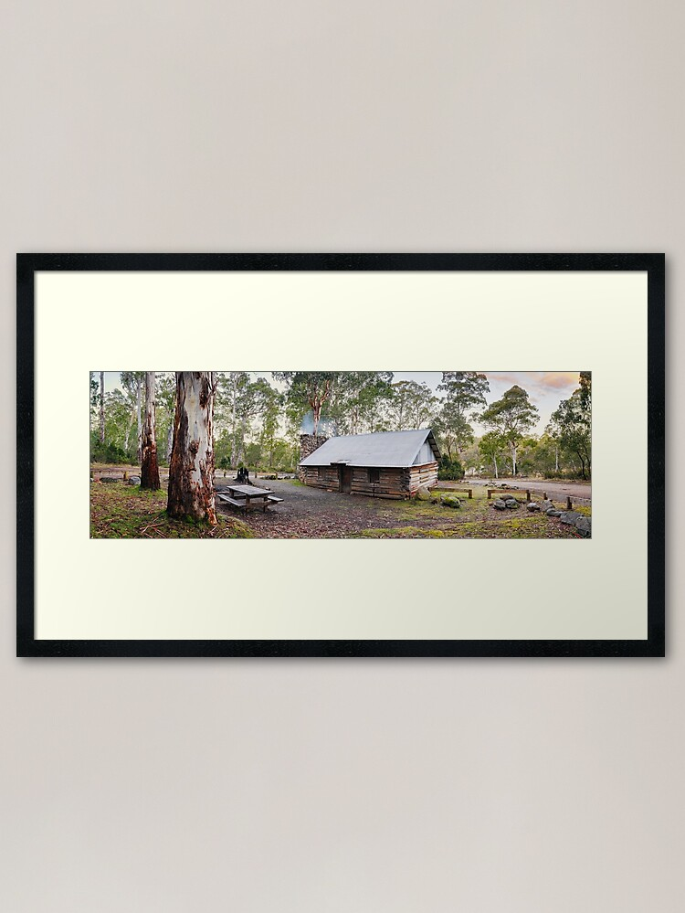 Alternate view of Moscow Villa Hut, Nunniong, Victoria, Australia Framed Art Print