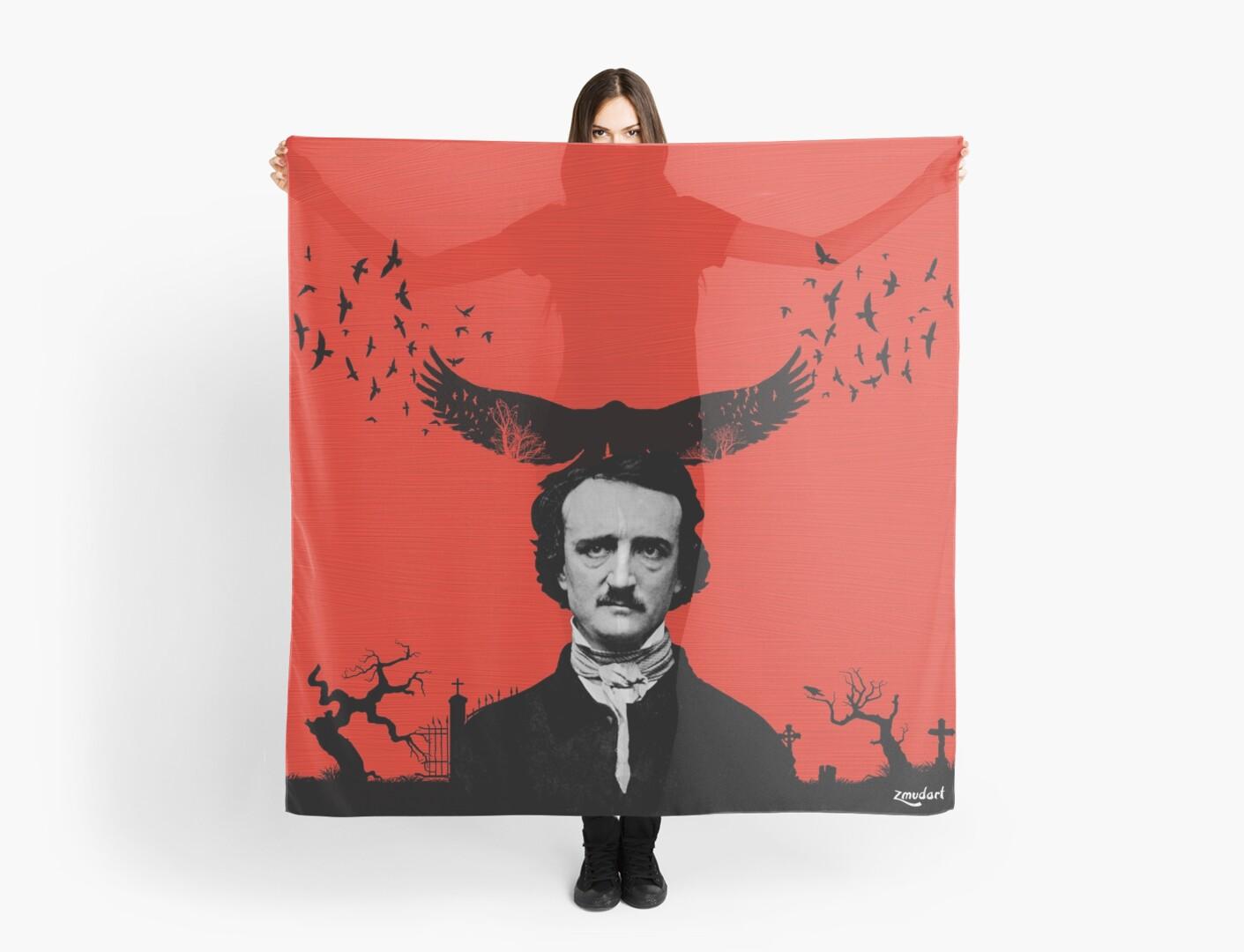 Edgar Allan Poe / Raven / Digital Painting by zmudart