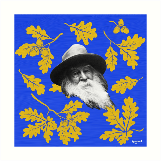 Walt Whitman | Iconic American Poet | Digital Painting by zmudart