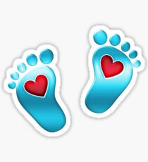 Baby feet with heart Sticker