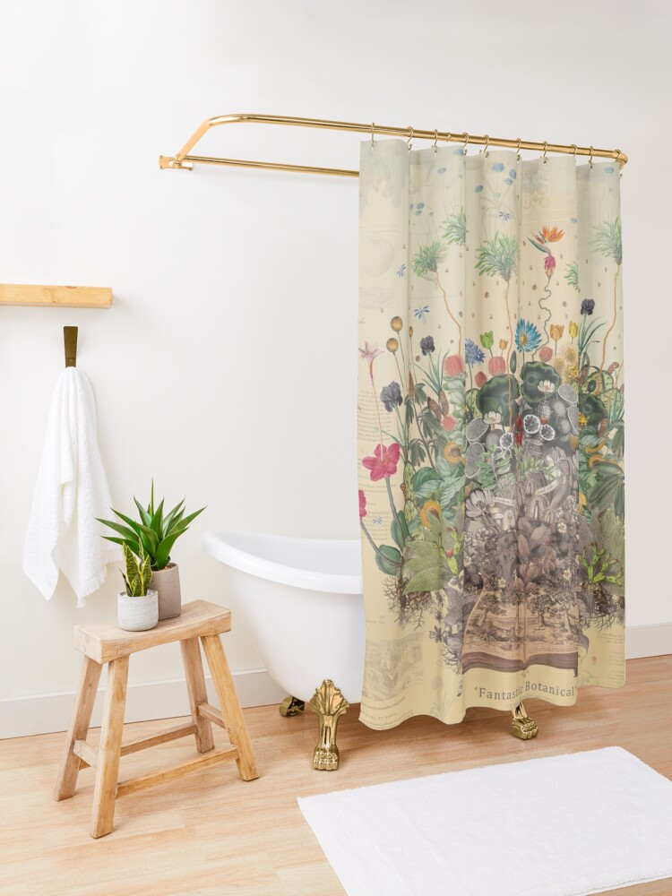 Alternate view of FANTASTIC BOTANICAL Shower Curtain