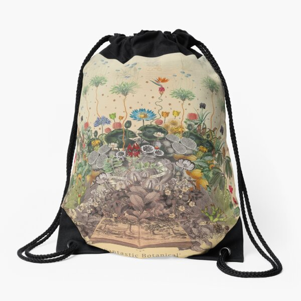 FANTASTIC BOTANICAL Drawstring Bag