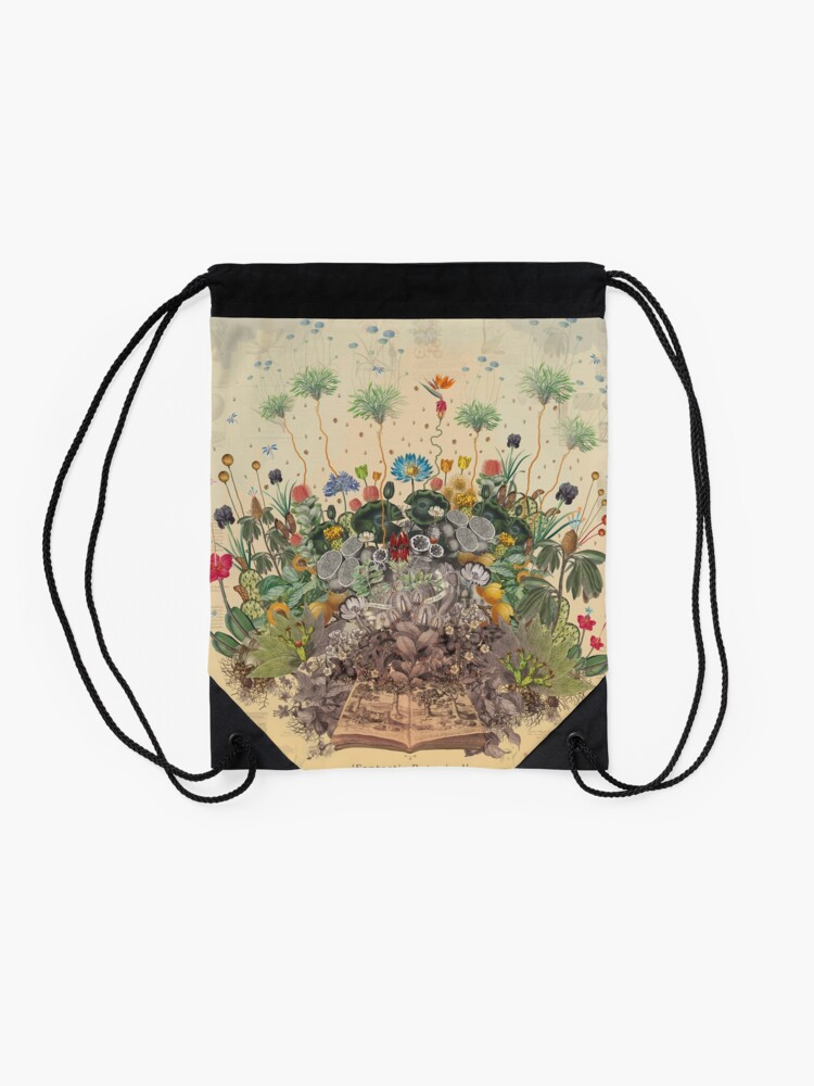 Alternate view of FANTASTIC BOTANICAL Drawstring Bag