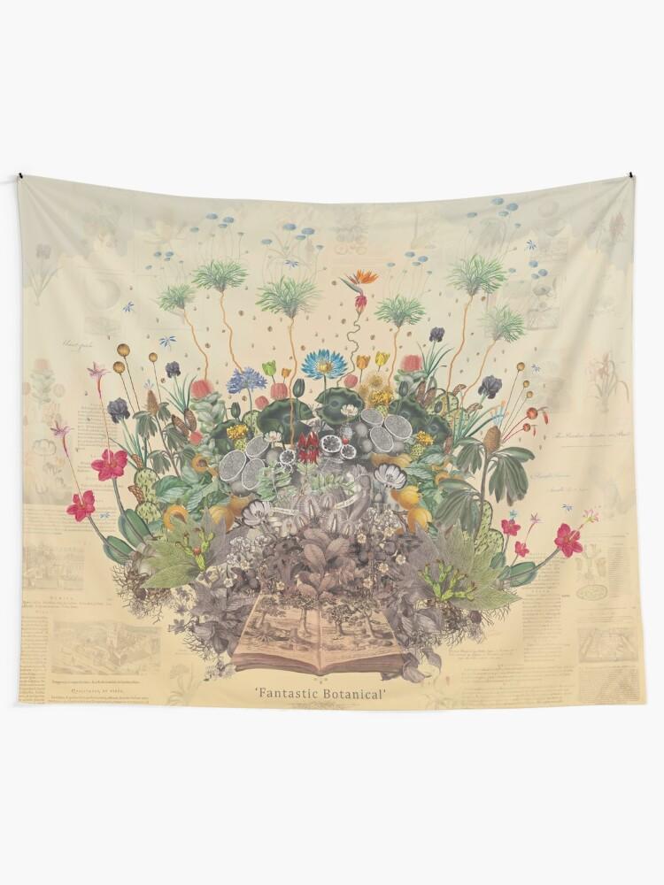 Alternate view of FANTASTIC BOTANICAL Tapestry